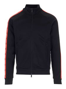 Dsquared2 - Contrasting bands cardigan in black