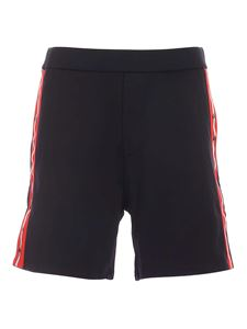 Dsquared2 - Contrasting logo band shorts in black
