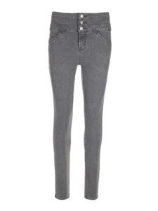 J Brand - High-waisted skinny jeans in grey