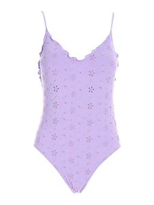 MC2 Saint Barth - Francoise one piece swimsuit in lilac color