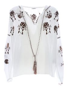 Parosh - Blouse embroidered in white