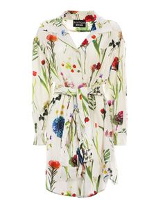 Moschino Boutique - Floral print shirt dress in cream color
