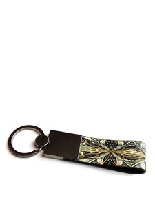 Maria Enrica Nardi - Dune leather and steel key holder in green
