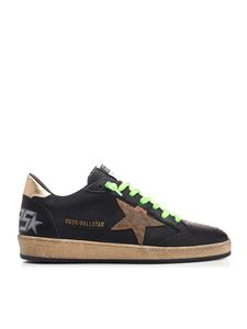 Golden Goose - Ball Star sneakers in black and green