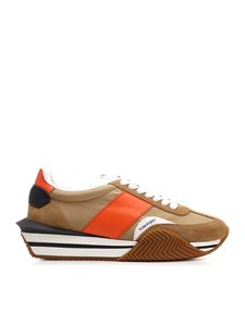 Tom Ford - James sneakers in brown and orange