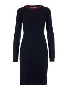 Marni - Wool knitted fitted dress in black