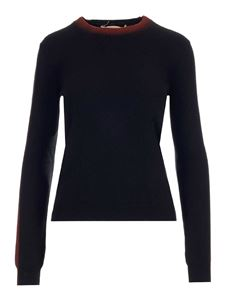 Marni - Wool knitted slim fit sweater in black