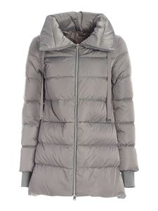 Herno - Quilted down jacket in grey