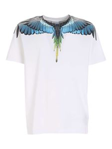Marcelo Burlon County Of Milan - Wings T-shirt in white and light blue