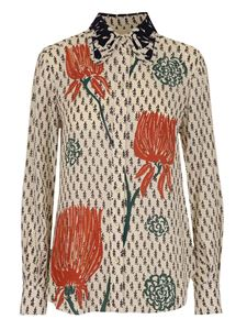 Chloé - Printed shirt in cream color