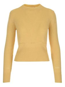 Chloé - Knit fitted sweater in yellow