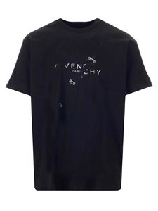 Givenchy - Branded T-shirt in black