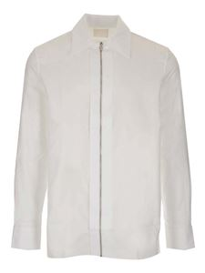 Givenchy - Camicia con zip frontale bianca