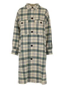 Isabel Marant Étoile - Fontiali coat in cream and green