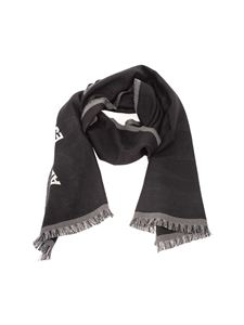 Alexander McQueen - Logo foulard in black and ivory color