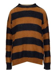 Marni - Striped sweater in brown and beige