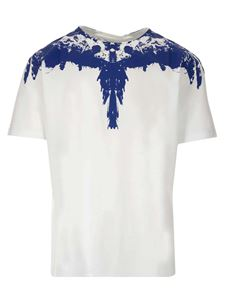Marcelo Burlon County Of Milan - Tar Wings T-shirt in white and blue