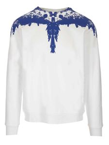 Marcelo Burlon County Of Milan - Tar Wings sweater in white and blue