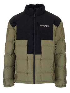 Marcelo Burlon County Of Milan - Cross padded jacket in green and black