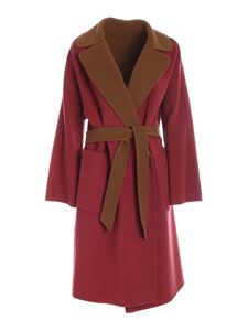 Max Mara Weekend - Rail coat in strawberry and camel color