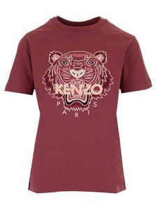 Kenzo - Tiger T-shirt in burgundy red