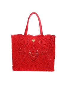 Dolce & Gabbana - Beatrice large shopper bag in red