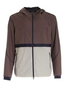 Z Zegna - Color block jacket in odve grey and cream