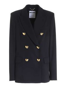 Moschino - Teddy Buttons double-breasted jacket in black