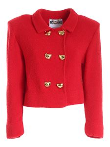 Moschino - Teddy Buttons jacket in red