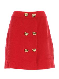 Moschino - Gonna Teddy Buttons rossa