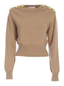 Moschino - Maglia Teddy Buttons beige