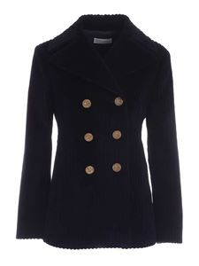 Red Valentino - Corduroy jacket in blue
