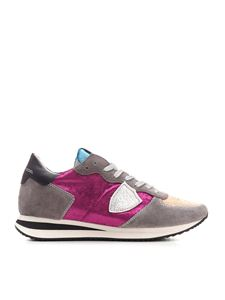 Philippe Model - Tropex X sneakers in wine and gray color