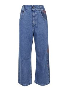 OPENING CEREMONY - Floral print baggy jeans in blue