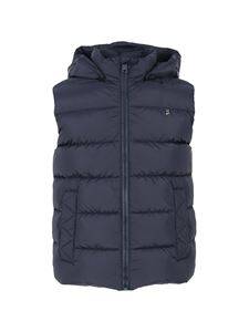 Herno - Sleeveless down jacket in blue