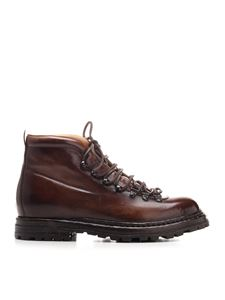 Officine Creative - Artik leather ankle boot in brown