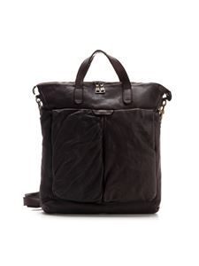 Officine Creative - Leather crossbody bag in brown