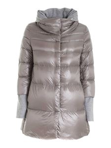 Herno - Micro beads detail padded jacket in pearl grey