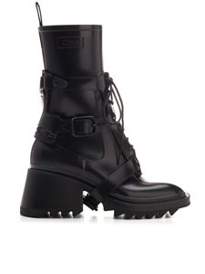 Chloé - Betty lace up combat boots in black