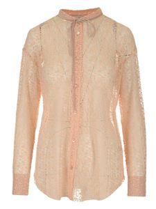 Forte Forte - Lace shirt in pink