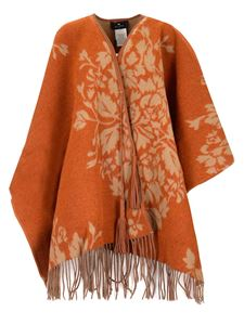 Etro - Fringed cape in camel color