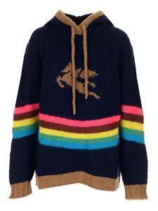 Etro - Pegaso hooded sweater in blue