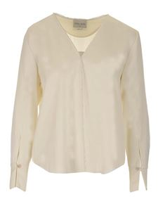 Forte Forte - Viscose and wool blouse in white