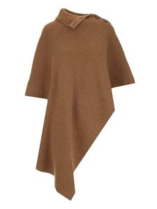Chloé - Knitted cape in camel-color