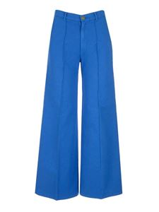 Forte Forte - Palazzo cotton pants in light blue