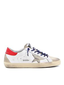 Golden Goose - Superstar suede and leather sneakers in white