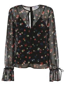 Red Valentino - Delicate Flowers blouse in black