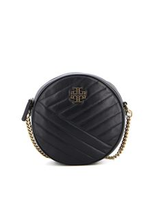 Tory Burch - Kira Chevron quilted leather crossbody bag in black