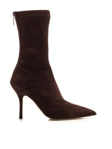 Paris Texas - Mama ankle boots in Coffee color