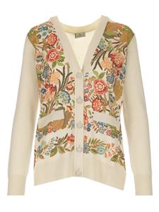 Etro - Floral inserts cardigan in white
